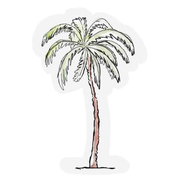 The Gift Label Cut Out Cards Palm Tree