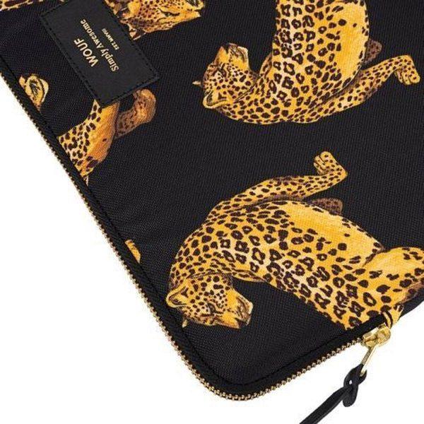 """Black Leopard Laptophoes 13"""" detail"""