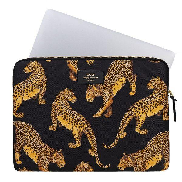 """Wouf Black Leopard Laptophoes 15"""" laptop"""