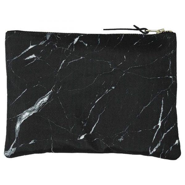 Clutch Black marble achterkant