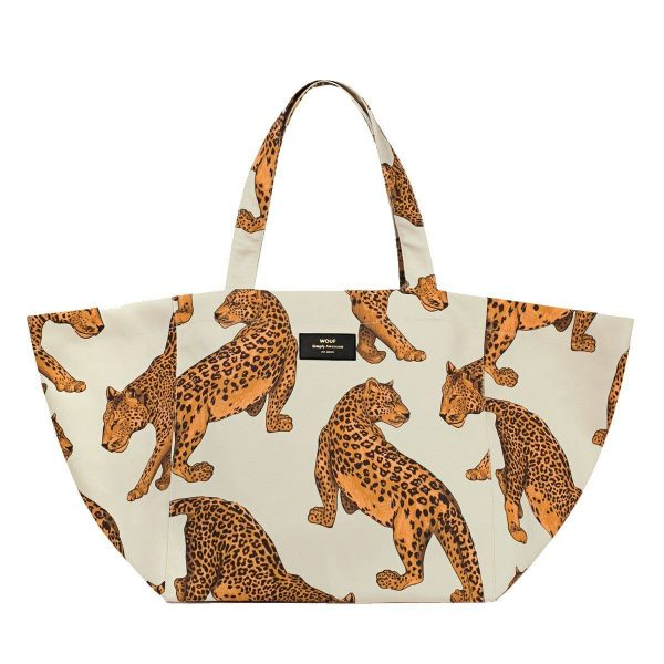 wouf leopard tote bag xl