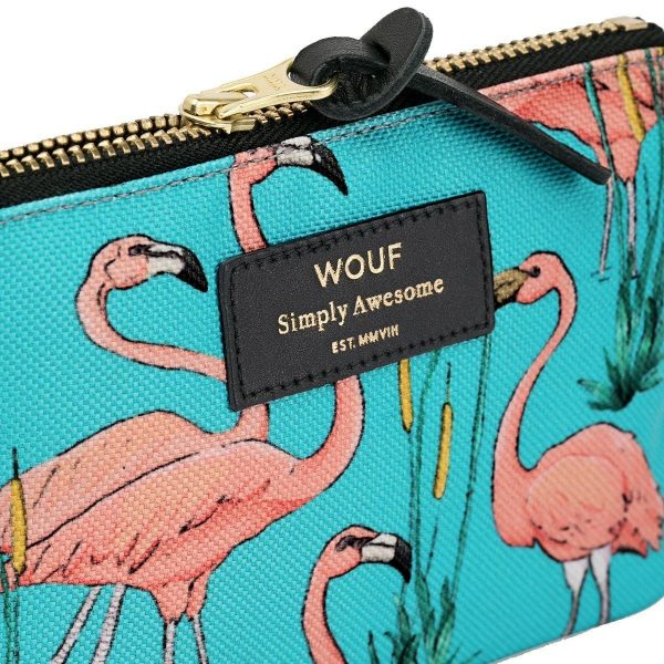 wouf pink flamingos portemonnee small 3