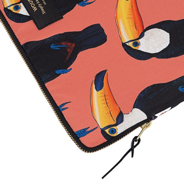Wouf Toco Toucan Laptophoes 13 inch rits