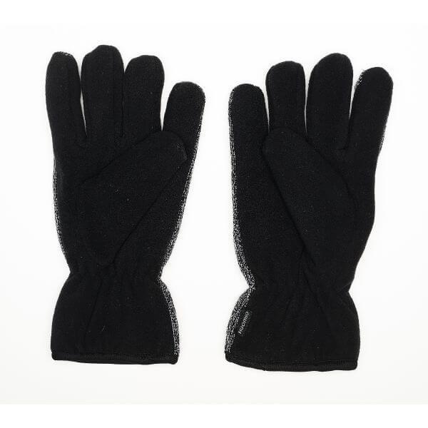 Mustat Heijastavat Magic-sormikkaat kuvattuna kämmenpuolelta.