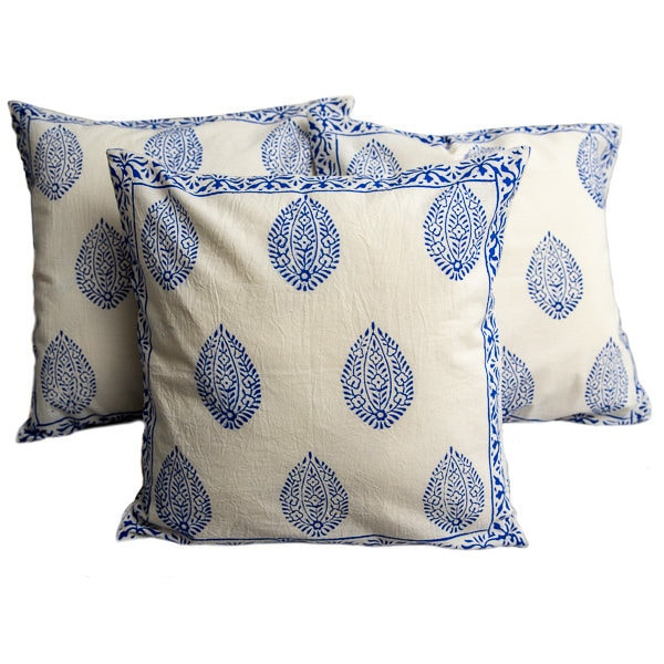 Cushion cover - blue and white