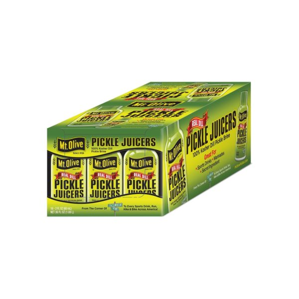 Box of 18 2 oz Mt. Olive Real Dill Pickle Juicers