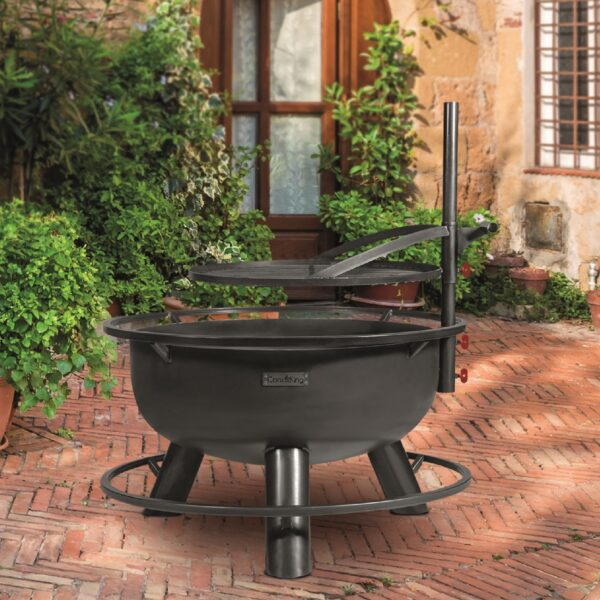 Bandito Fire Bowl with Adjustable Grill Plate