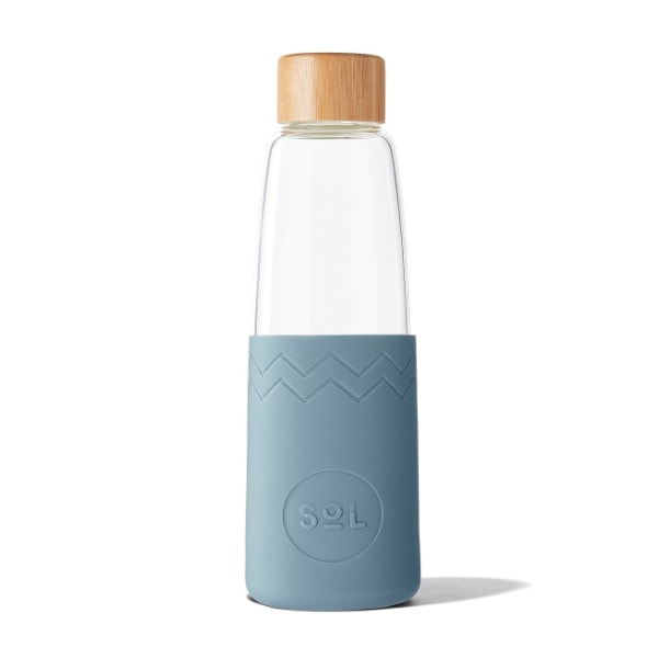 Glastrinkflasche SoL Bottle 850ml - Blue Stone