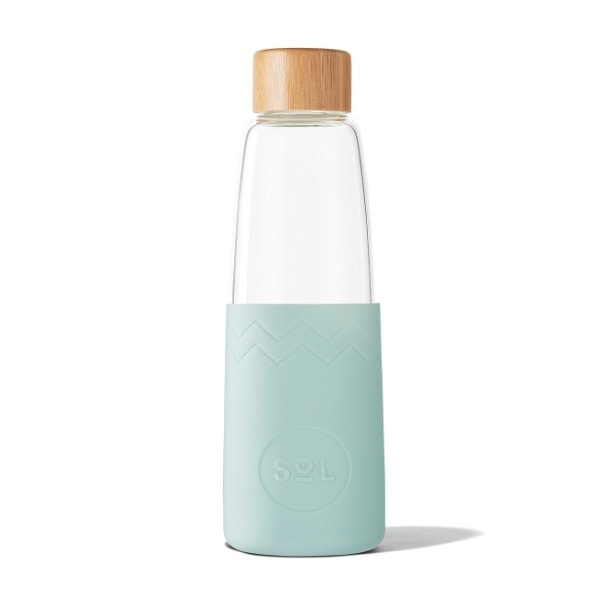 Glastrinkflasche SoL Bottle 850ml - Cool Cyan