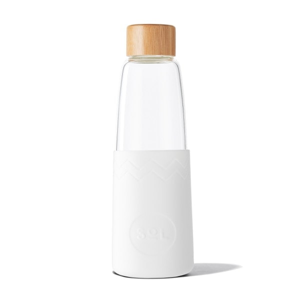 Glastrinkflasche SoL Bottle 850ml - Weiß