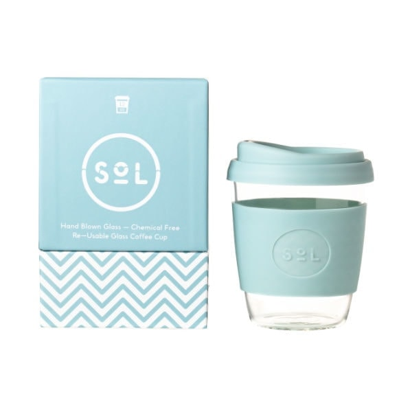 SoL Cup Glaskaffeebecher 12oz - Cool Cyan