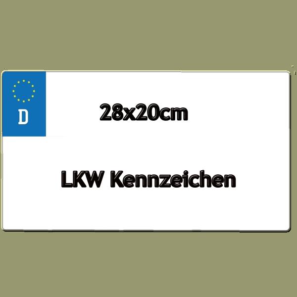 LKW Kennzeichen 28cm