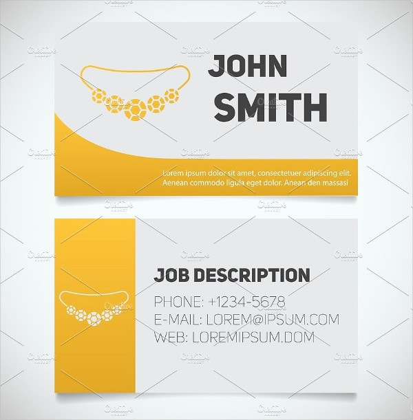 Business Card Print Template with Necklace Logo