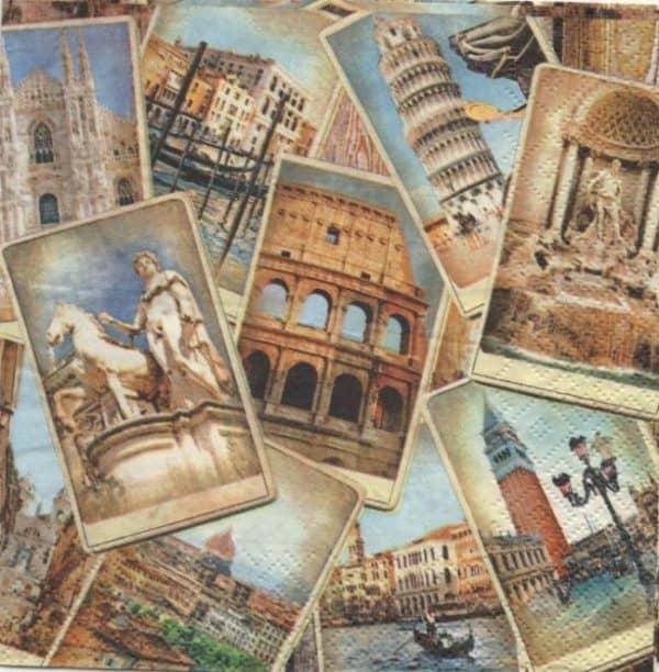 Serviette papier Rome et Italie