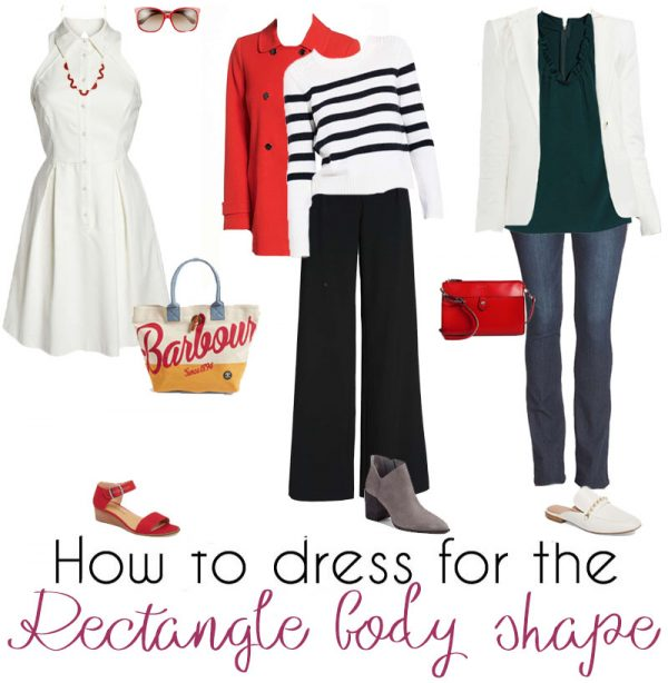 how to dress rectangle shaped body