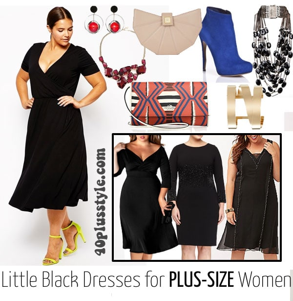 how to wear a little black dress a curvy woman | 40plusstyle.com
