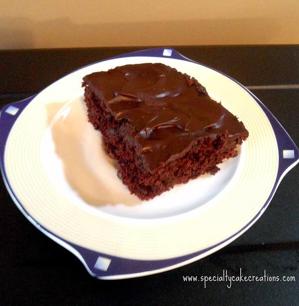 Chocolate Zucchini Brownie Slice