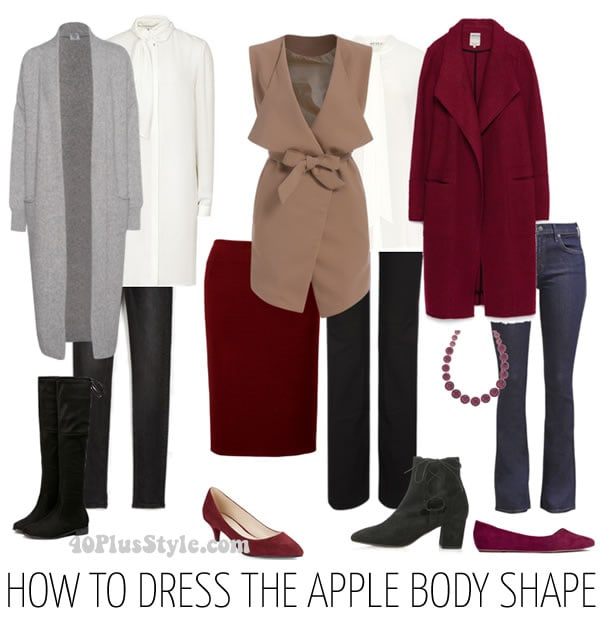 Classic and chic looks for the apple body shape | 40plusstyle.com
