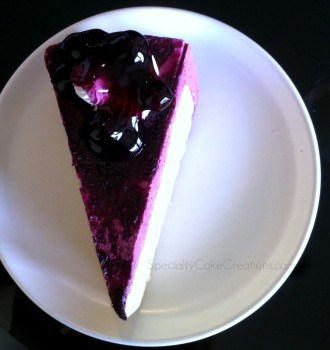 Mousse Cake with Blueberries