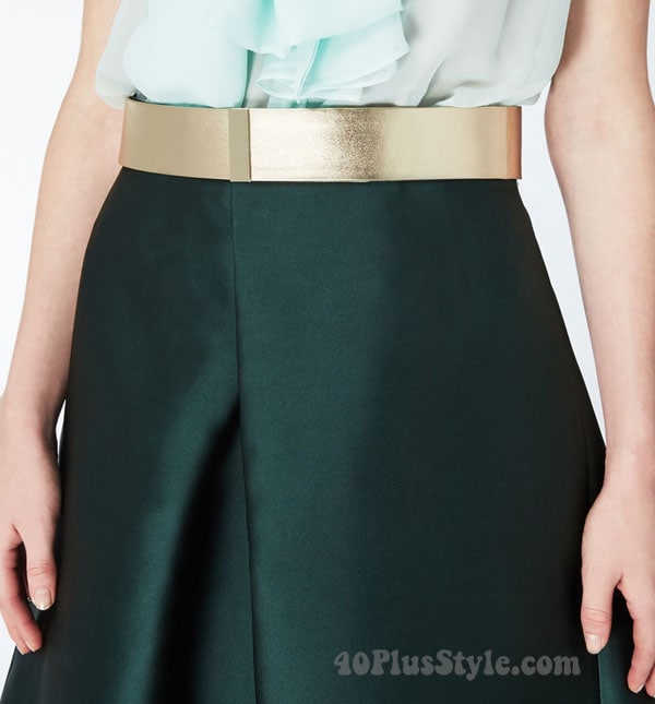 max-metallic belt | 40plusstyle.com
