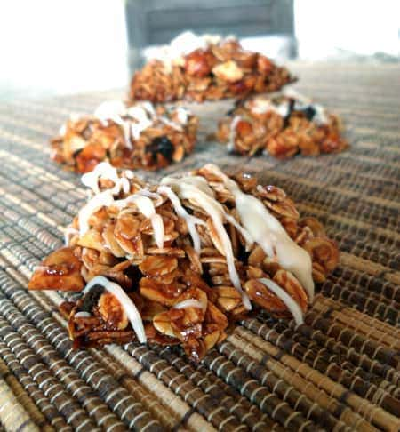 Drizzled Granola Clusters