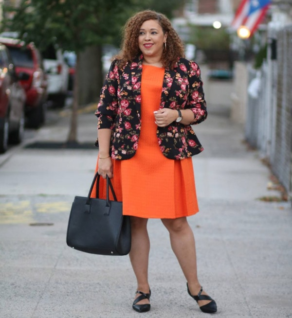 Feminine and edgy with a floral blazer | 40plusstyle.com