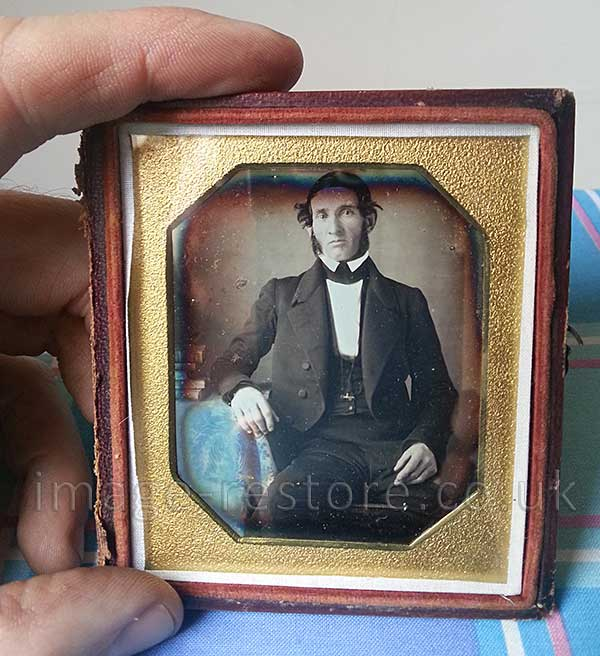 Newly discovered Daguerreotype of young Abraham Lincoln. Shown to scale.