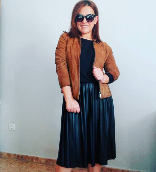 #40plusstyle inspiration: brown suede jacket  40plusstyle.com