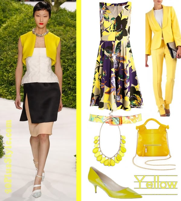 Ideas how to wear yellow | 40plusstyle.com