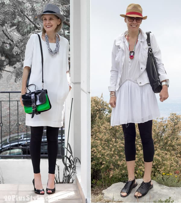 how to wear tunics with cropped leggings | 40plusstyle.com