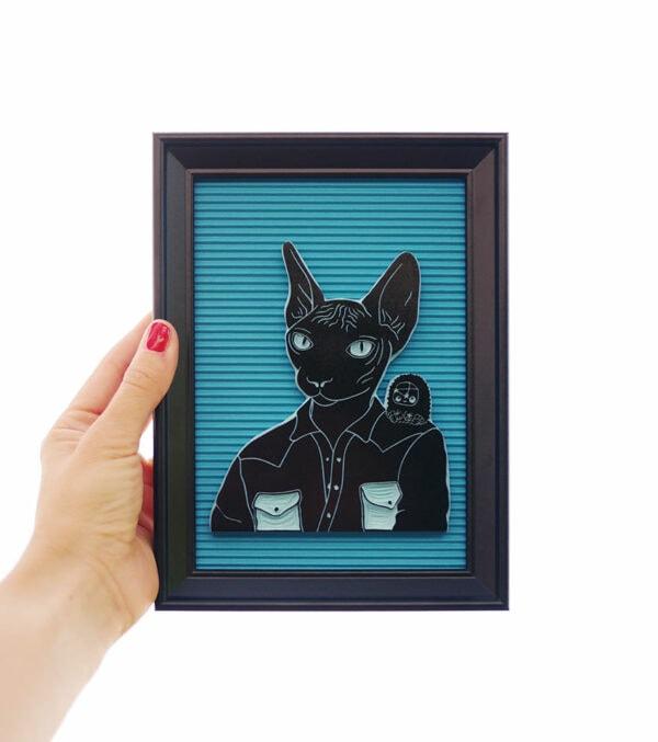 sello-gato-enmarcado-ana-sola-carvado-de-sellos-personalizados-de-goma