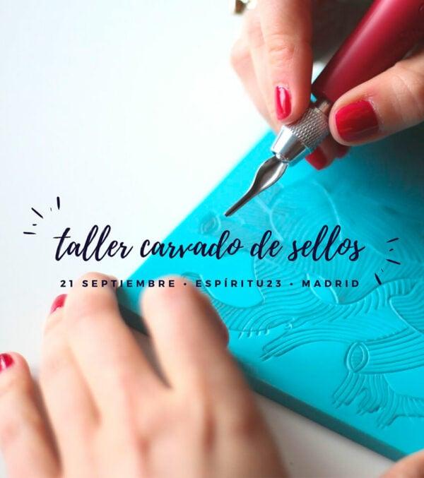 Ana-Sola-taller-carvado-de-sellos-Madrid-scrapbooking