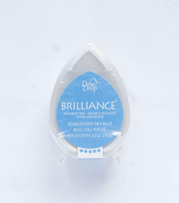 tinta-brilliance-mini-pearlescent-sky-blue-azul-cielo-materiales-carvado-sellos-ana-sola