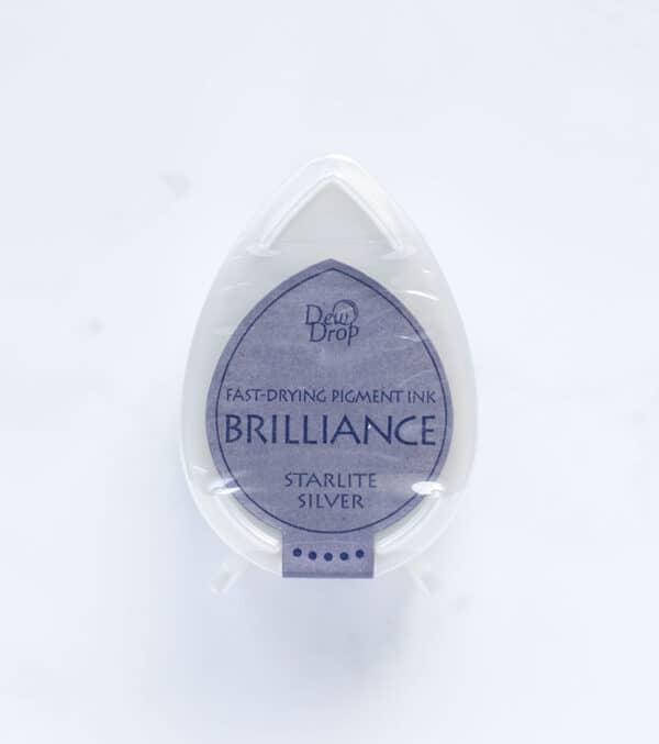 tinta-brilliance-mini-starlite-silver-plateado-con-luz-de-estrella-materiales-carvado-sellos-ana-sola