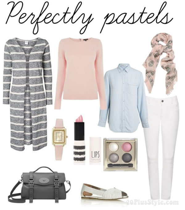 How to wear pastels - mixing and matching | 40PlusStyle.com