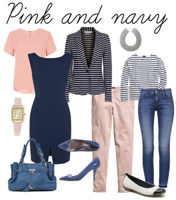 Combining pink with navy | 40PlusStyle.com