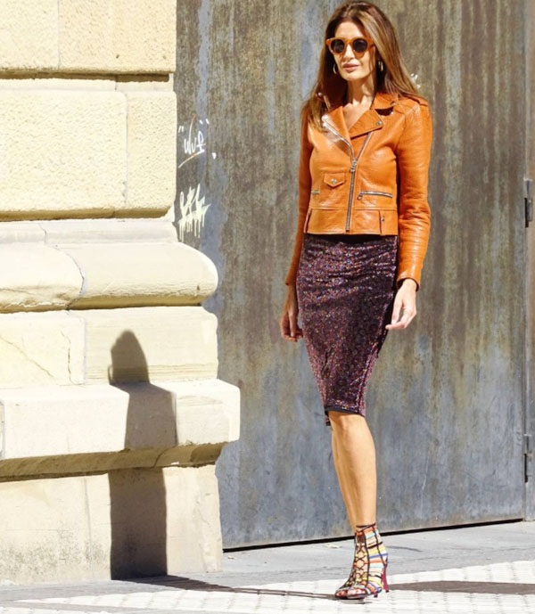 Great looks with brown leather jackets | 40plusstyle.com