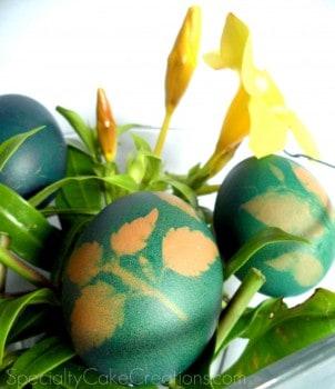 Closeup of Stenciled Eggs