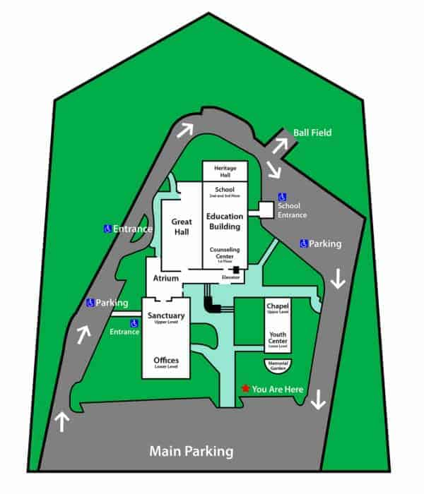 Shallowford Campus and Parking Map