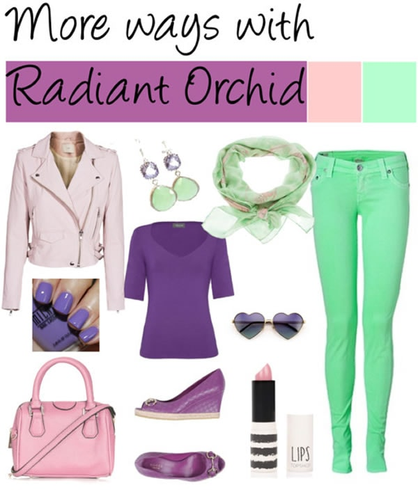 Wearing radiant orchid with mint green | 40PlusStyle.com