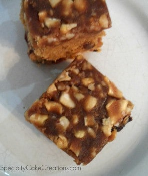 Golden Cashew Bars on Plate