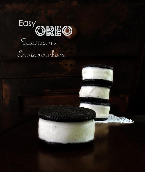 Oreo Ice Cream Sandwich Stack