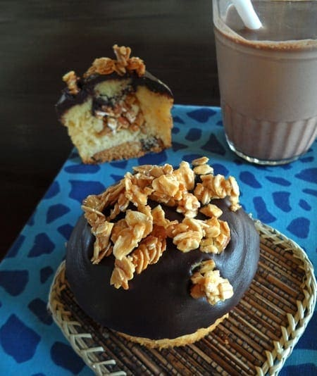 Cupcake with Granola on Top