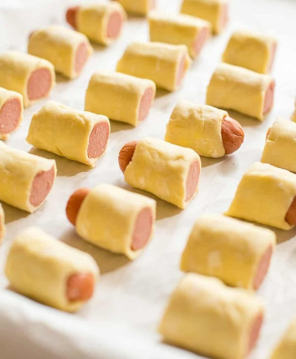 Puff Pastry wrapped around hot dogs