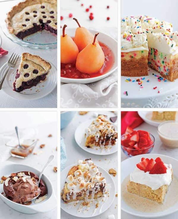 Collage of pressure cooker desserts