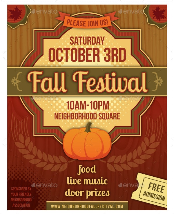 Fall Festival Poster or Flyer Template