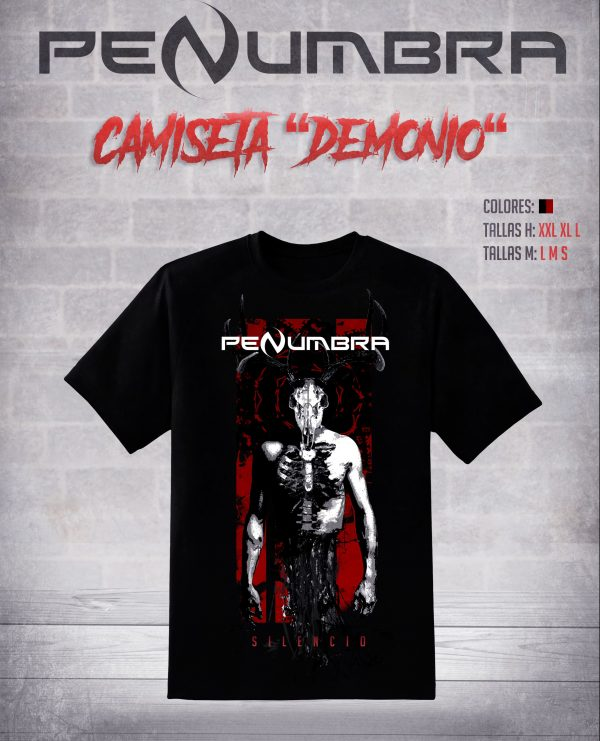 camiseta demonio silencio penumbra