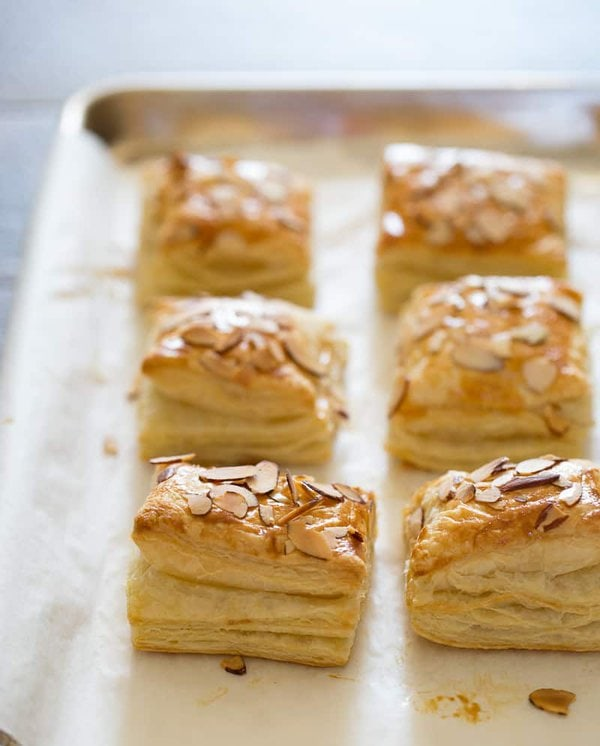 almond croissants with frozen puff pastry