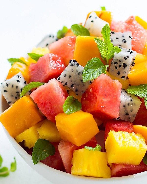 Colourful Tropical Fruit Salad Recipe