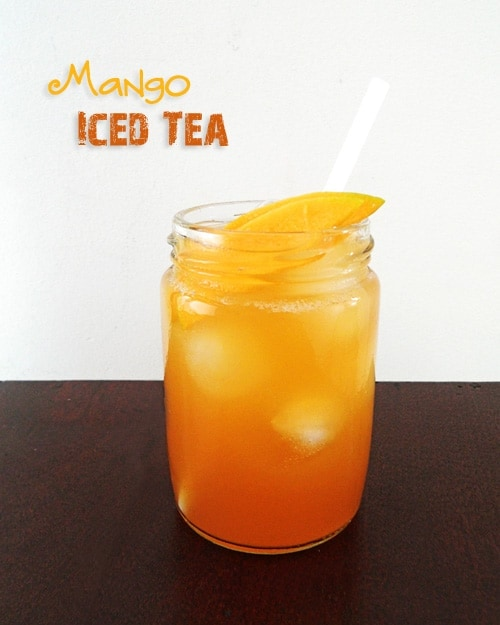Jar of Mango Iced Tea